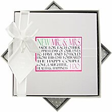 WHITE COTTON CARDS Wedding Day Words Fotoalbum,