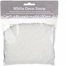 White Deco Snow - Glitzernder weißer Deko Schnee - kreative Möglichkeiten eröffnen sich Ihnen mit dieser praktischen Schnee - Kristall -Streu in der Farbe weiss, sofort einsatzbereit, schöne Akzente setzen zu Winter, Advent und Weihnachten - Neu aus dem KAMACA-SHOP