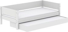 White - Einzelbett mit Ausziehbett -  200 cm -