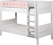 White - Etagenbett - 200 cm - Weiß/ Rosa