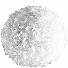 White Fluffy, Ø 42cm, weiße Papierlampe