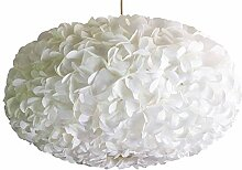 White Fluffy II, weiße Lampe Leuchte Lampenschirm