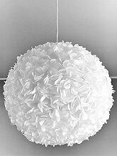 White Fluffy, Lampe Leuchte Lampenschirm Pendelleuchte Pendellampe Hängeleuchte Hängelampe Papierleuchte Papierlampe Reispapierlampe Designerlampe Wohnzimmerlampe Schlafzimmerlampe Deckenlampe Blüten Kugel Pendel Papier