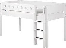 White - Halbhohes Bett - 190 cm - Weiß