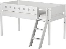 White - Halbhohes Bett mit Schrägleiter - 190 cm