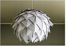 White Harlekin, weiße Lampe Leuchte Lampenschirm