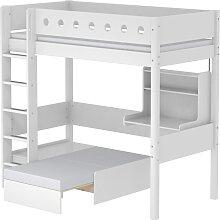 White - Hochbett mit Sofabett - 200 cm - Weiß