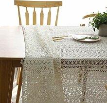White Lace Tischdecke Hochzeitsdeko Durchlässiger
