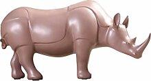 White Rhino Styling Ornamente Skulptur Wohnzimmer