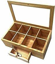 Whitewhale Teebox aus Holz für Tee,