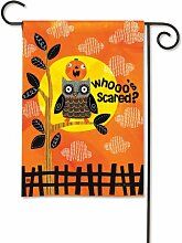 Who 's Angst Halloween Garten Flagge