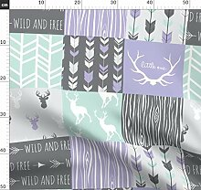 Wholecloth, Mint, Lavendel, Kinderzimmer,