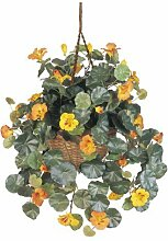 Wholesale Nasturtium Silk Hanging Basket, [Decor, Silk Flowers] by StarSun Depo