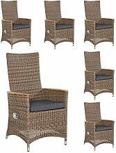 Wholesaler GmbH 6X Positionsstühle Gartenstühle