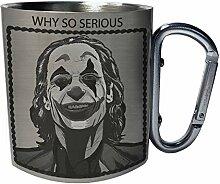 Why So Serious joker Edelstahl Karabiner