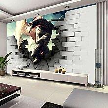 WHYBH 3D Wandbild Wohnzimmer Tapete Selbstklebend