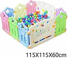 WHYDIANPU Kinder-Spielzaun, Indoor-Spielplatz