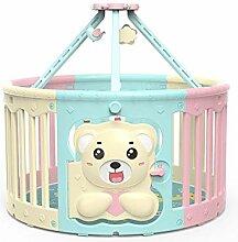 WHYDIANPU Kinder Zaun Bear Spiel Baby Runde Zaun