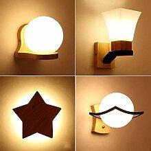 WI Hölzerne LED Wandlampe Leuchte, nordische