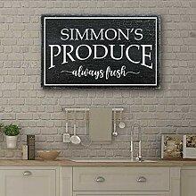 Wi33bbon Personalisiertes Schild, Küchenschild,
