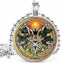 Wiccan Spirale Göttin Symbole & Pentagramm