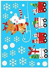 Wicemoon Christmas Cartoon Fensteraufkleber DIY