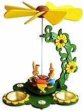 Wichtelstube-Kollektion Teelicht Osterpyramide - Hasen Verkaufsstand ca. 21 * 17 * 24 cm