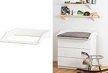 Wickelaufsatz Aufsatz für Ikea Malm Kommode
