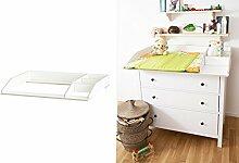 Wickelaufsatz mit Fach für Ikea Hemnes Kommode