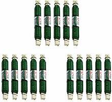 Wickeldraht, Blumendraht, Basteldraht • 15 Holzspulen a 100g • Material: Grün lackierter Draht • mit einem Durchmesser von 0,65 mm und 40m Länge