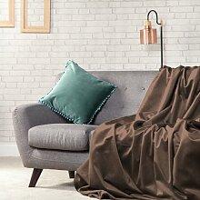 Wickeltasche Sofas 135cm x 200cm Pilz Luxus Velvet Soft Touch Überwurf
