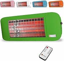 Wickeltisch Heizstrahler 750 Watt in verschiedenen Farben (Grün)