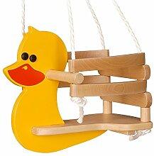 WICKEY Babyschaukel Ente Babysitz Holzschaukel