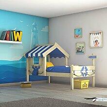 WICKEY Kinderbett CrAzY Sharky Einzelbett 90x200cm