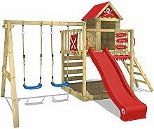 WICKEY Spielturm mit Schaukel und Rutsche, großem