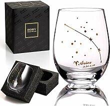 Widder Weinglas ohne Stiel, Sternbild Glas