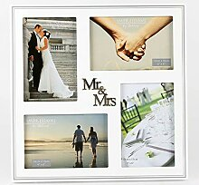 Widdopp Fotorahmen Collage Mr. & Mrs. Versilbert -