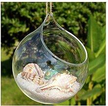 Wide.ling Hängende Glas Blumenvase Vase für