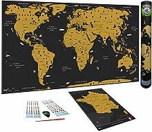 WIDETA Weltkarte zum Rubbeln, französisch/XXL (82