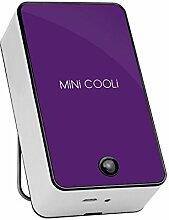 Wiederaufladbare Fan USB-Ventilator Klimaanlage Ventilator (2 Ställen) , purple