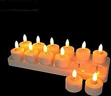 Wiederaufladbare flammenlose Teelicht-Kerzen mit