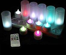Wiederaufladbare LED Kerzen Teelicht, Ein Set von