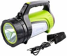 Wiederaufladbare LED-Laterne-Taschenlampe 10 Modi