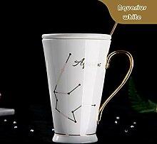 Wiederverwendbar 12 Sternbilder Tassen Weiß Und