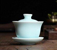 Wiederverwendbar Celadon Porzellan Gaiwan Teacups