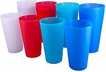Wiederverwendbare Becher aus BPA-freiem