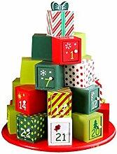 Wiederverwendbare Holz Weihnachten Countdown