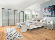 WIEMANN Bett Shanghai 200x200 cm grau Doppelbetten