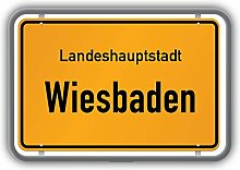 Wiesbaden City Germany Road Limit Emblem -