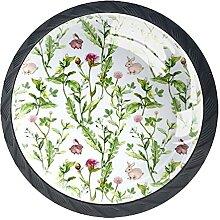 Wiesenblumen kleine Kaninchen Nahtloses Muster